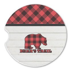 Lumberjack Plaid Sandstone Car Coasters (Personalized)