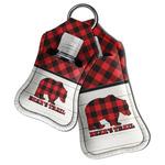 Lumberjack Plaid Hand Sanitizer & Keychain Holder (Personalized)