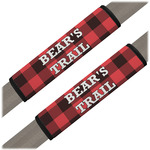 Lumberjack Plaid Seat Belt Covers (Set of 2) (Personalized)