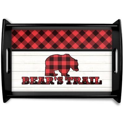 Lumberjack Plaid Wooden Trays (Personalized)