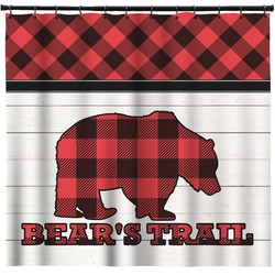 Lumberjack Plaid Shower Curtain (Personalized)