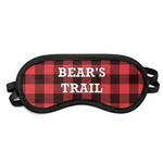 Lumberjack Plaid Sleeping Eye Mask (Personalized)