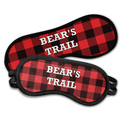 Lumberjack Plaid Sleeping Eye Masks (Personalized)