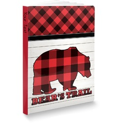 "Lumberjack Plaid Softbound Notebook - 5.75"" x 8"" (Personalized)"