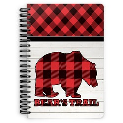 Lumberjack Plaid Spiral Bound Notebook (Personalized)