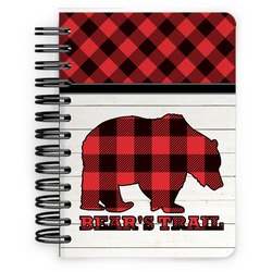 Lumberjack Plaid Spiral Bound Notebook - 5x7 (Personalized)