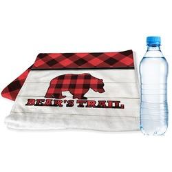 Lumberjack Plaid Sports Towel (Personalized)