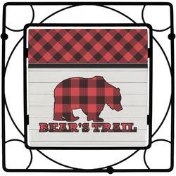 Lumberjack Plaid Square Trivet (Personalized)