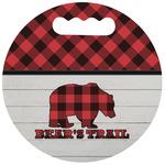 Lumberjack Plaid Stadium Cushion (Round) (Personalized)