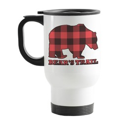 Lumberjack Plaid Stainless Steel Travel Mug with Handle