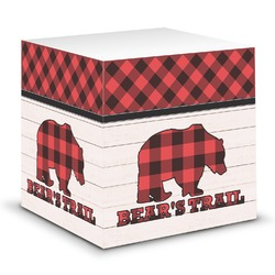 Lumberjack Plaid Sticky Note Cube (Personalized)