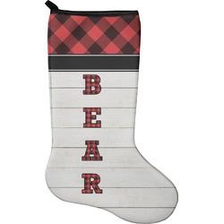 Lumberjack Plaid Christmas Stocking - Neoprene (Personalized)