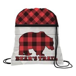 Lumberjack Plaid Drawstring Backpack (Personalized)