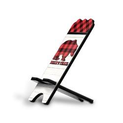 Lumberjack Plaid Stylized Phone Stand (Personalized)