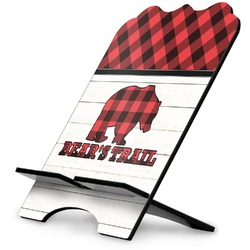 Lumberjack Plaid Stylized Tablet Stand (Personalized)