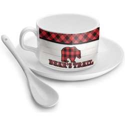 Lumberjack Plaid Tea Cup - Single (Personalized)