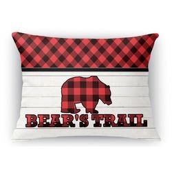 "Lumberjack Plaid Rectangular Throw Pillow Case - 12""x18"" (Personalized)"