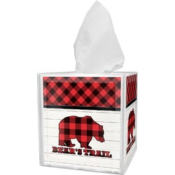 Lumberjack Plaid Tissue Box Cover (Personalized)