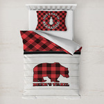 Lumberjack Plaid Toddler Bedding w/ Name or Text