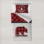 Lumberjack Plaid Toddler Bedding w/ Name or Text