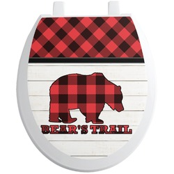 Lumberjack Plaid Toilet Seat Decal (Personalized)