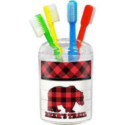 Lumberjack Plaid Toothbrush Holder (Personalized)