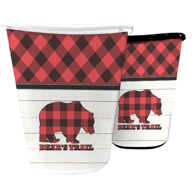 Lumberjack Plaid Waste Basket (Personalized)