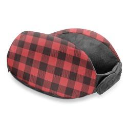 Lumberjack Plaid Travel Neck Pillow (Personalized)