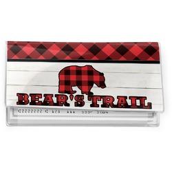 Lumberjack Plaid Vinyl Checkbook Cover (Personalized)