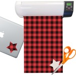 Lumberjack Plaid Sticker Vinyl Sheet (Permanent)