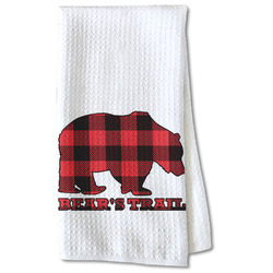 Lumberjack Plaid Waffle Weave Kitchen Towel - Partial Print (Personalized)