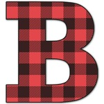 Lumberjack Plaid Letter Decal - Custom Sized (Personalized)