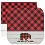 Lumberjack Plaid Facecloth / Wash Cloth (Personalized)