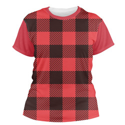 Lumberjack Plaid Women's Crew T-Shirt (Personalized)