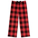 Lumberjack Plaid Womens Pajama Pants (Personalized)