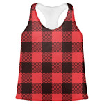 Lumberjack Plaid Womens Racerback Tank Top (Personalized)