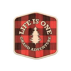 Lumberjack Plaid Genuine Maple or Cherry Wood Sticker (Personalized)
