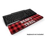 Lumberjack Plaid Keyboard Wrist Rest (Personalized)
