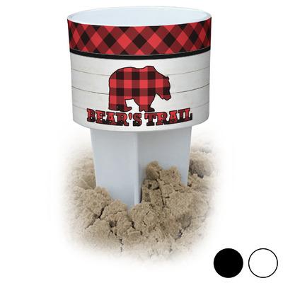 Lumberjack Plaid Beach Spiker Drink Holder (Personalized)