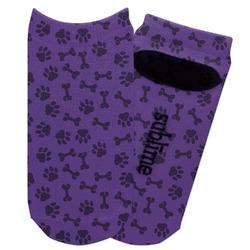 Pawprints & Bones Adult Ankle Socks (Personalized)