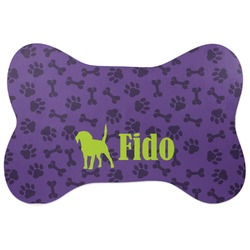 Pawprints & Bones Bone Shaped Dog Food Mat (Personalized)