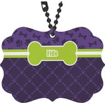 Pawprints & Bones Rear View Mirror Charm (Personalized)