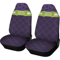 Pawprints & Bones Car Seat Covers (Set of Two) (Personalized)