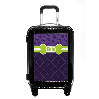 Pawprints & Bones Carry On Hard Shell Suitcase (Personalized)