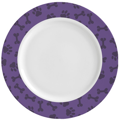 Pawprints & Bones Ceramic Dinner Plates (Set of 4) (Personalized)