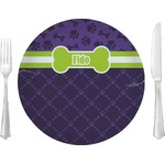 "Pawprints & Bones Glass Lunch / Dinner Plates 10"" - Single or Set (Personalized)"
