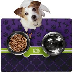 Pawprints & Bones Dog Food Mat - Medium w/ Name or Text