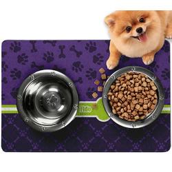 Pawprints & Bones Dog Food Mat - Small w/ Name or Text