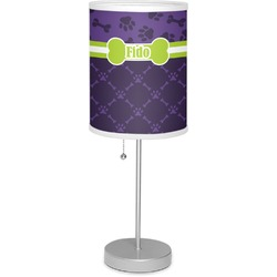 "Pawprints & Bones 7"" Drum Lamp with Shade (Personalized)"
