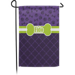 Pawprints & Bones Garden Flag - Single or Double Sided (Personalized)